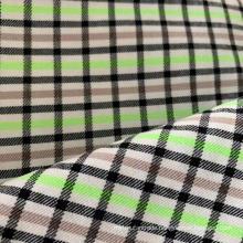 Polyester Viscose Checks High Stretch Fabric
