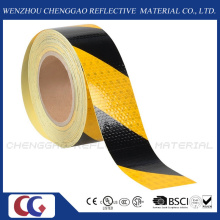 Factory Hazard Warning Yellow and Black Stripe Reflective Tape (C3500-S)