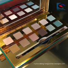Elegant Gold Color cardboard paper makeupe eyeshadow palette with brush
