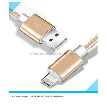 Factory Price Multi Charger USB Cable for Android and iPhone