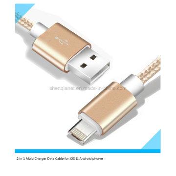Цена по прейскуранту завода Мульти зарядное устройство USB кабель для Android и iPhone