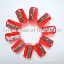 Red Color Plastic Standard Pencil Sharpener