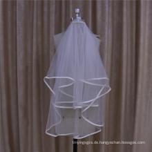 Hochzeitsschleier mit Satin Rand