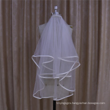 Wedding Veil with Satin Edge