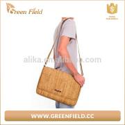 Fashional cork shouder bag computer bag for man