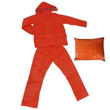 Erwachsene wasserdichte fluoreszierende Rainsuit Regenmantel Regenbekleidung Polyester Workwear (RWA07)