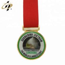 Atacado liga de zinco personalizado impressão logotipo ouro medalhas de esportes de metal