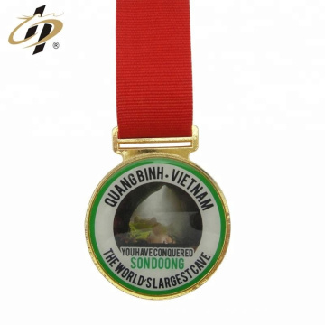 Wholesale zinc alloy custom printing logo gold metal sports medals