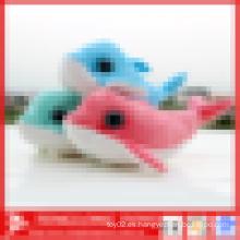 Juguete de peluche de peluche de peluche, delfín de juguete suave