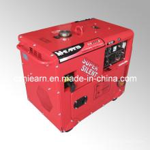 Ensemble de générateur d'essence super silencieux refroidi par air 5kw (GG6500S)