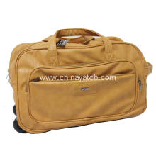 Durable PU Leather Trolley Duffle Bag