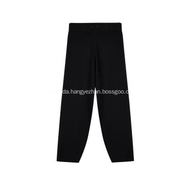 Women's Knitted Elastic Waist Ribbed Wide Pants