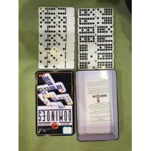 Double Nine Dominoes Em Tin Box