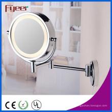 Miroir cosmétique de miroir de maquillage de côté de Fyeer double LED