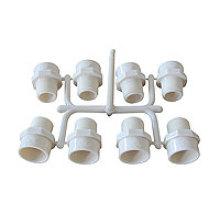 Accouplement mâle de moule de PVC