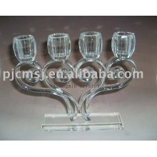 Personalized 4 Arms Candle Holder Crystal For Home Decorations