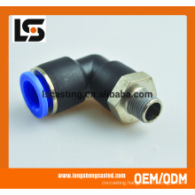 L type plastic pneumatic connector tube fittings injection pipe fittings