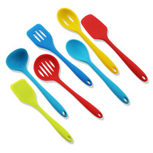 7PCS Rainbow Colored Kochen Silikon Utensil Set
