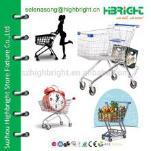 Тележка для покупок с тяжелыми колесами