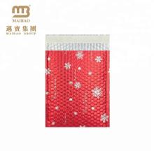 Рождество Снежинка Дизайн Металлической Алюминиевой Фольги Изготовленный На Заказ Красный Пузырь Конверты Мягкий Конверт