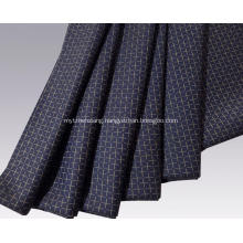 Worsted cashmere wool and cotton blended fabric