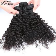 Extension de cheveux humains non transformés vierge vierge de cheveux indiens, cheveux châtains crépus de chérie vierge