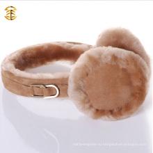 2016 Зимняя мода Овчина Ушная муфта Зимние меховые ушные муфты для теплого