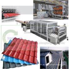 PVC-Dachziegel-Fertigungsstraße / Plastikdachziegel-Fertigungsstraße / Dachplatte-Fertigungsstraße / Dachplatte, die Maschine / Asa-gewölbte synthetische Harz-Dachplatte herstellt