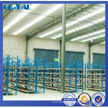 Solução de armazenamento de escritório personalizado / estantes de longspan multi-camada de fábrica