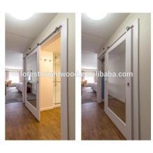 Puerta de granero de espejo deslizante para puerta de baño de Hotel
