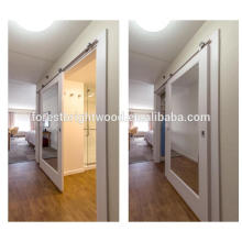 Sliding Mirror Barn Door for Hotel Bathroom Door