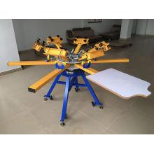 8 Farbige Textil-Siebdruckmaschine mit Flash-Trockner
