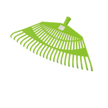 Outil de jardin Rake en plastique