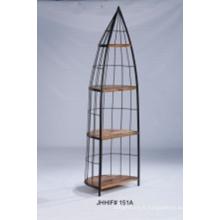 Étagères en bois de qualité en métal de qualité