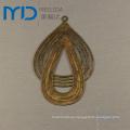Hoja afiligranada de la gota para el oído de la venta al por mayor de la manera de la joyería de cobre de Brasil