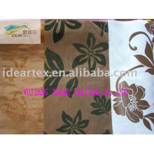 100 % polyester tissu floqué pour Hometextile de mèche
