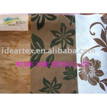 100% Polyester Slub Flocked Fabric for Hometextile