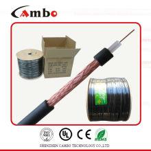 Fabrication de câble coaxial rg6 pour système cctv