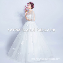 Hot Sale Good Quality Cheap Boat Neckline Bridal Wedding Dress