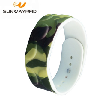 Profesional Customized printing 13.56MHz S50 RFID Wristband