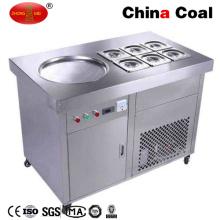 Máquina del helado de la fritada del rollo del estilo de Tailandia con la tabla plana