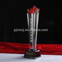 Wholesale new arrival crystal face five-pointed star trophy with black base
