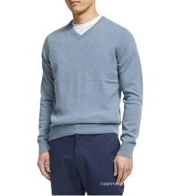 Classic v neck cashmere sweater for man