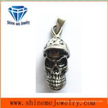 Joyería de acero inoxidable de moda collar de cráneo colgante