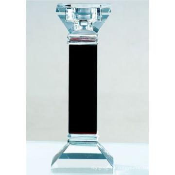 Décoration de bougeoir en verre noir