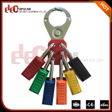 Elecpopular New Products On China Market Safety Steel Six Hole Lockout Hasp Fit For Jaw Diameter 1.5""