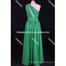 Светло-Фиолетовый-Line Одно Плечо Длиннее Шифоновое Платье Невесты