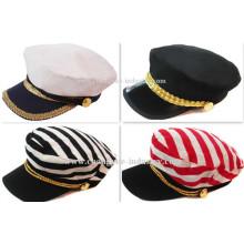 Personalizado homens e mulheres simples flat top fashion cap chapéu