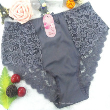OEM wholesale China silk panty spandex fabrics dark purple sexy girl seemless lace fancy underwear A562