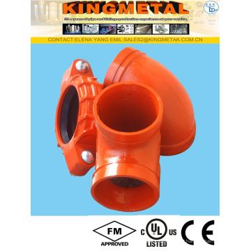 ASTM A536 carcaça em ferro fundido dúctil fogo sulcado Flange de acoplamento/adaptador/Cap/cotovelo/Flange/redutor encaixes